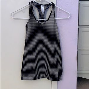 Girls black, white and blue tank top